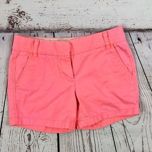 J. CREW Coral Pink Broken-In Chino Shorts